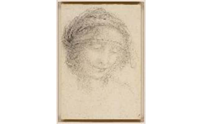 Photo: A study for the head of St Anne, c.1510-15 Royal Collection Trust / © Her Majesty Queen Elizabeth II 2016.