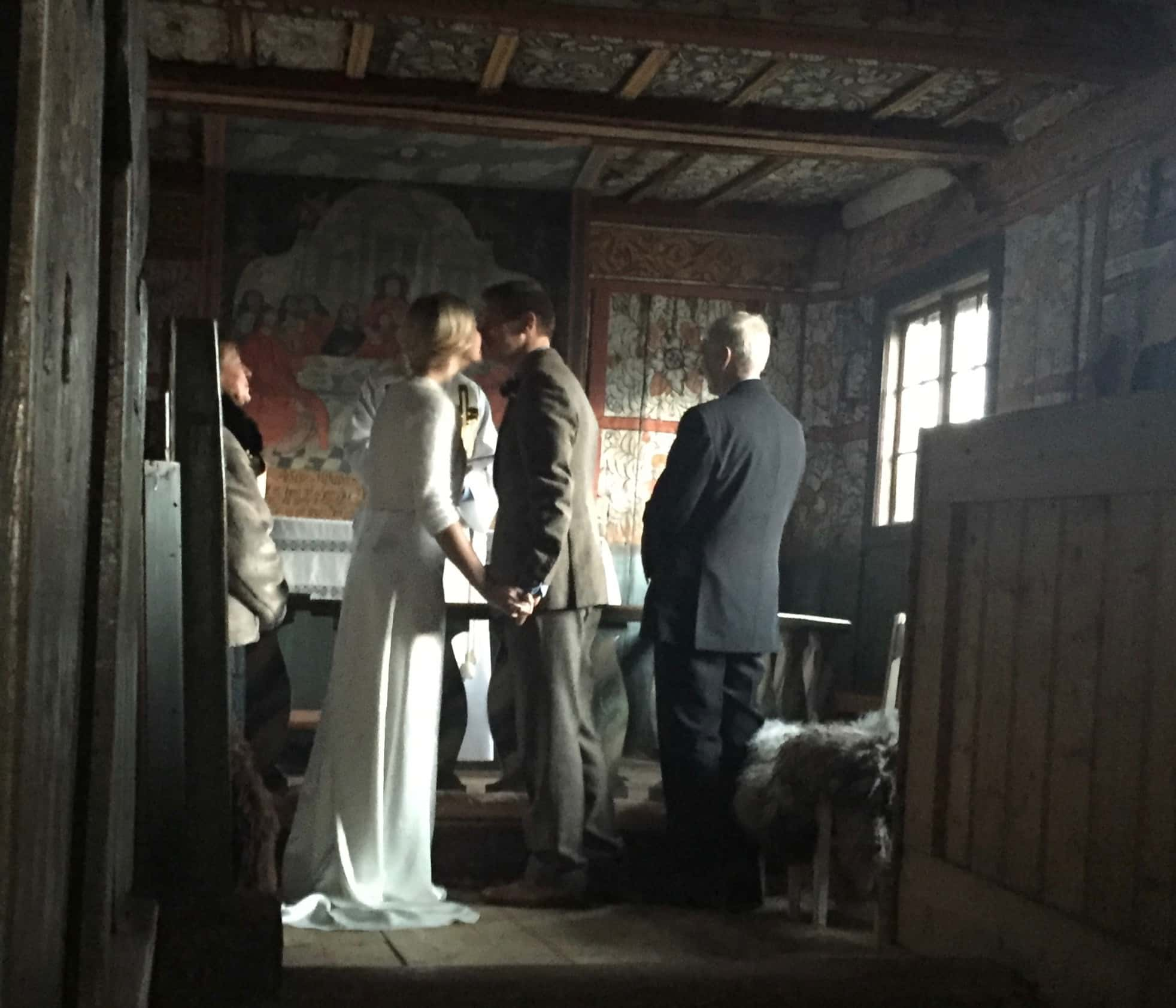 Sunderland bride and her groom are the first Britons to marry in historical Norwegian church