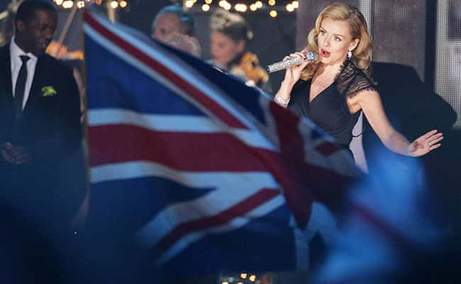 Picture: Katherine Jenkins during the VE Day 70: A Party to Remember concert on Horse Guards Parade, Whitehall, London. Picture date: Saturday May 9, 2015. See PA story MEMORIAL VEDay./Yui Mok/PA Wire.