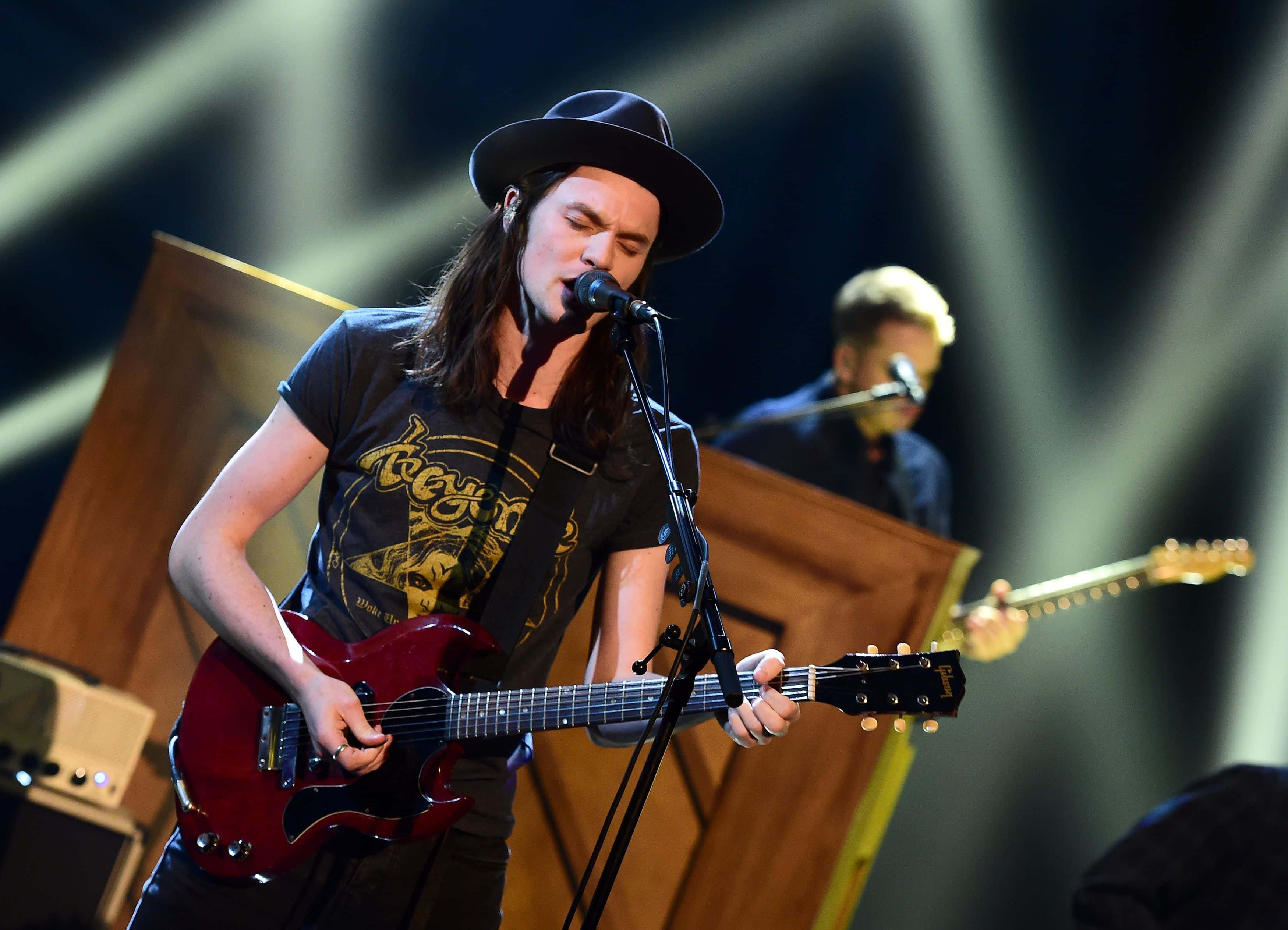 James Bay performing during the filming of the Graham Norton Show at The London Studios, south London.