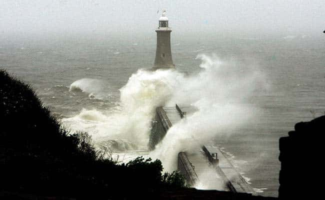 Heavy seas at Tynemouth, 2007./Owen Humphreys/PA Archive/PA Images.