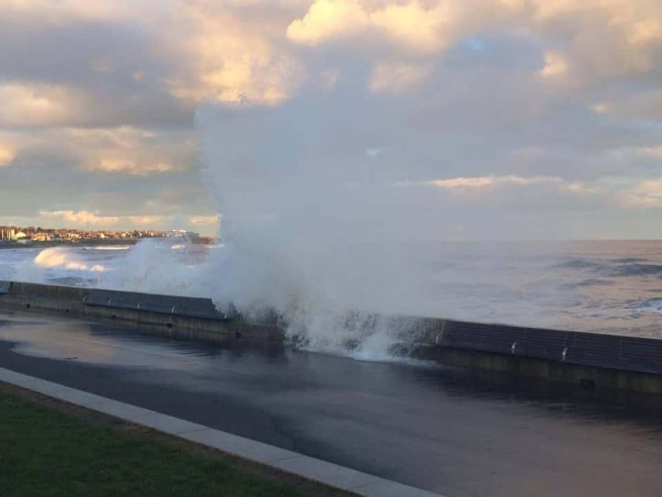 In Pictures: large waves batter Sunderland seafront
