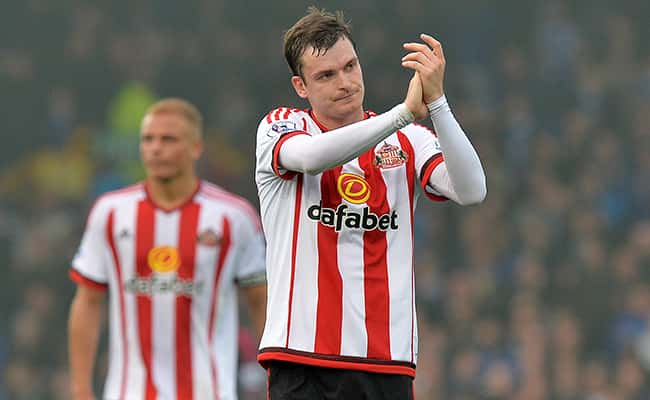 Adam Johnson, who has been sacked by Sunderland after he pleaded guilty to a charge of sexual activity with a 15-year-old girl. Picture by: Martin Rickett/PA Wire/Press Association Images.