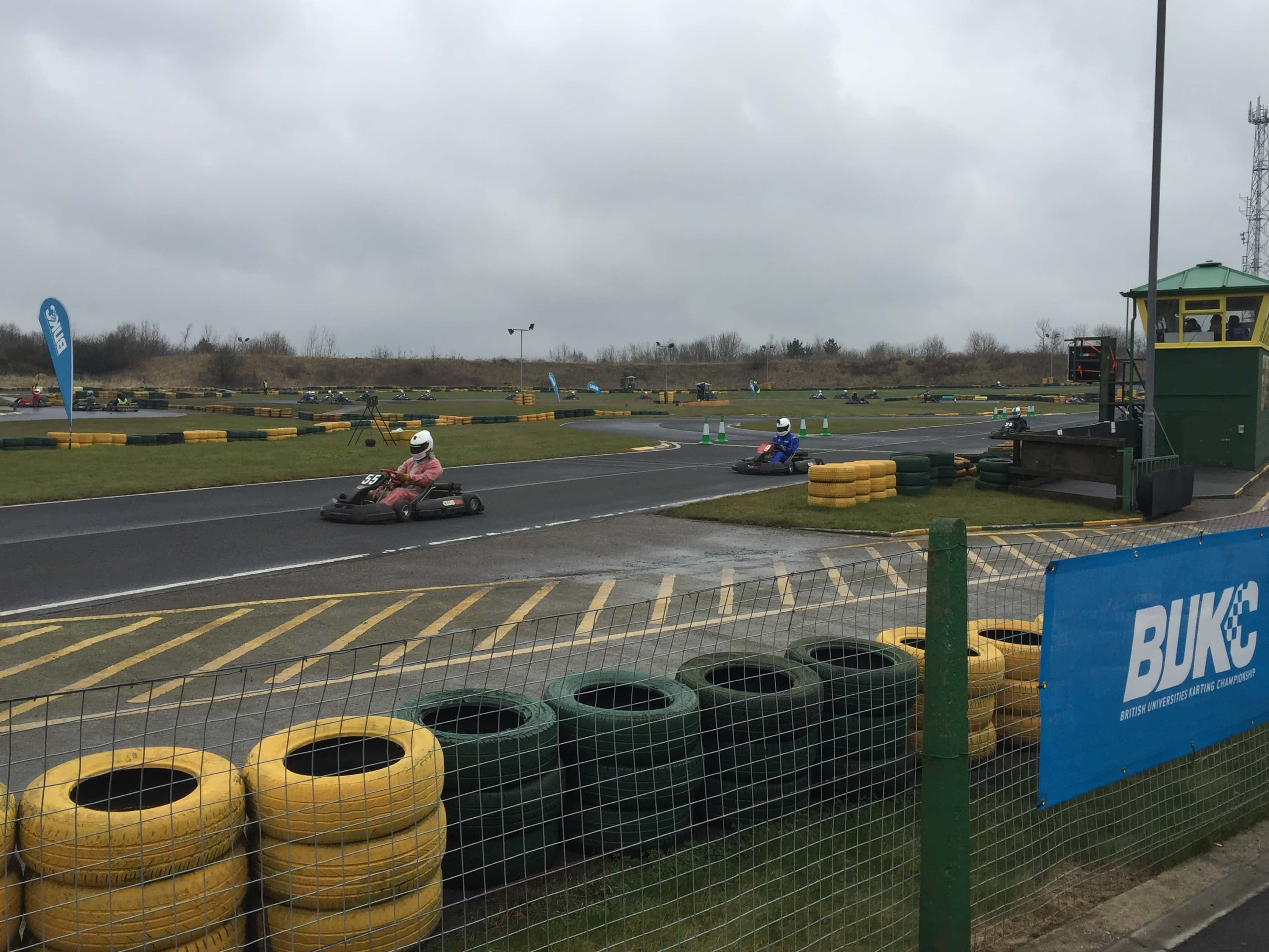 Drivers racing in one of the mornings solo races.
