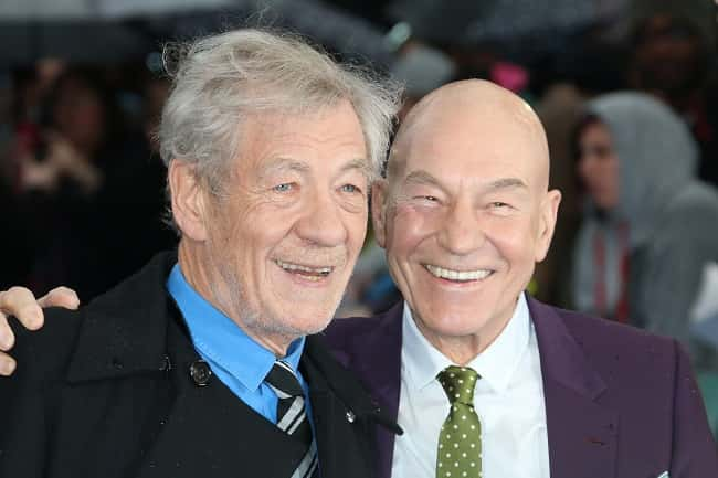 Sir Ian McKellen and Patrick Stewart at the UK premiere of X-Men: Days Of Future Past  at Odeon Leicester Square in London./Picture by: RICHARD GOLDSCHMIDT / NEWZULU/PA Images.