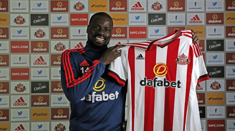 Emmanuel Eboue has been banned for one year by FIFA. Picture credit: safc.com