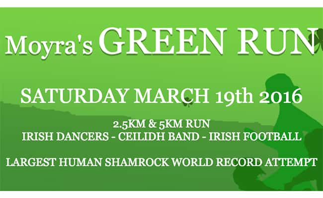 Charity run aims to break Guinness World Record for largest human Shamrock
