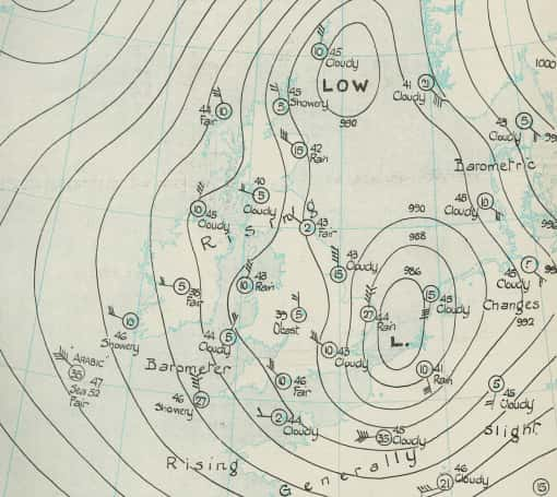 Synoptic chart 7am 21 April 1926/Photo by: Met Office.