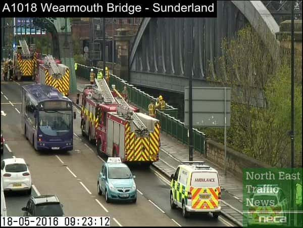 Man pulled to safety after being on the wrong side of Wearmouth Bridge railings