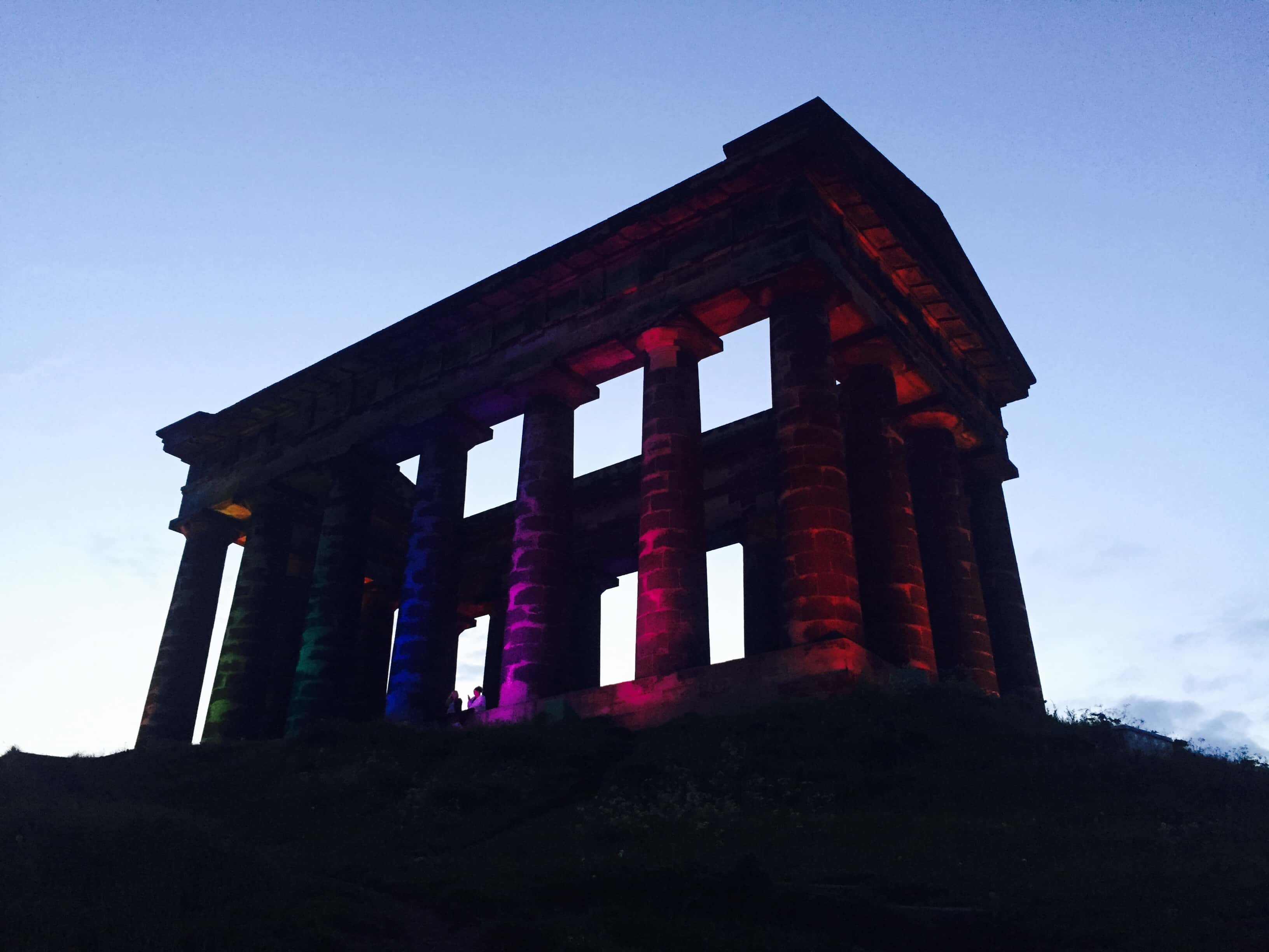 Penshaw Monument lit up in honour of Orlando shooting victims