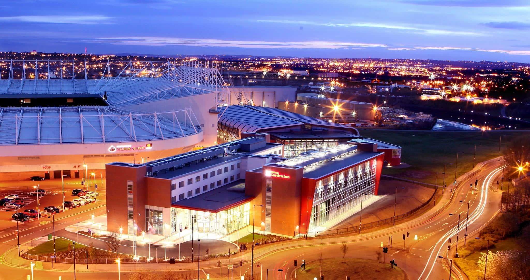 Sunderland's Hilton Garden Inn Hotel next to the Stadium of Light
