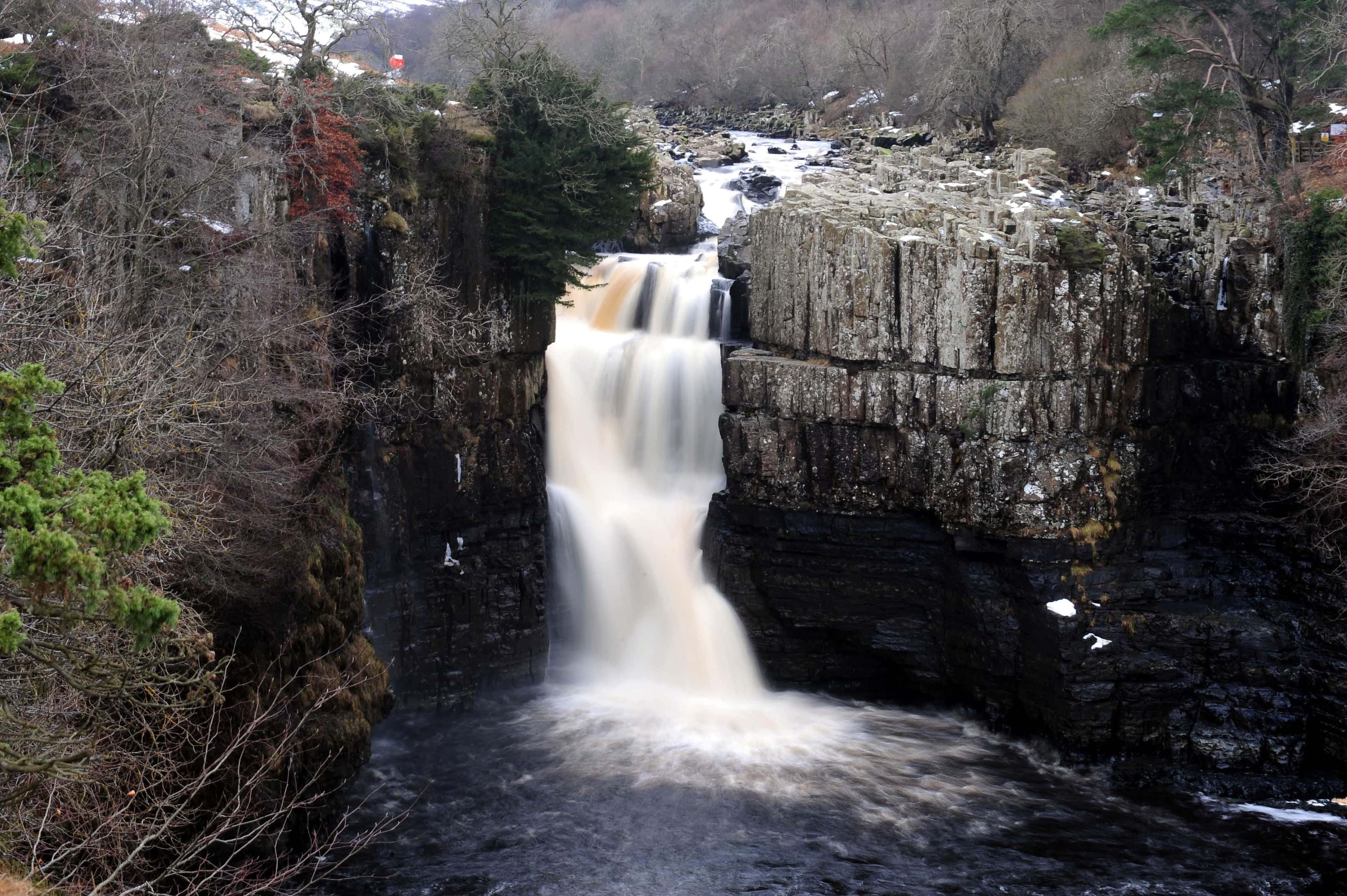 High Force waterfall in Teesdale. Photo: Owen Humphreys / PA Wire