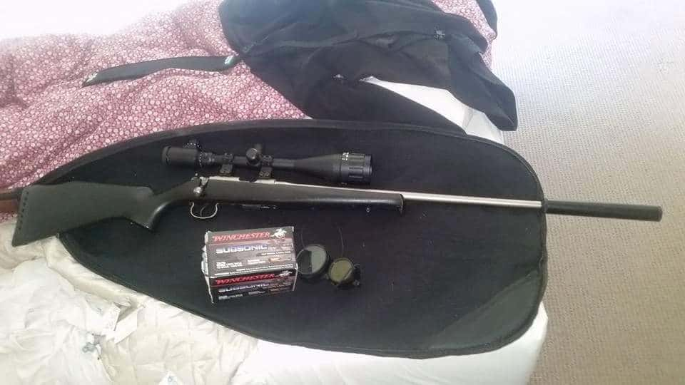 Two of the guns stolen - the .22 cz2452 bolt action rifle and Hatsun semi automatic shotgun