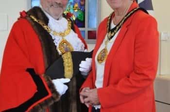 Mayor of Sunderland Alan Emerson & his wife, Mayoress Janice Emerson