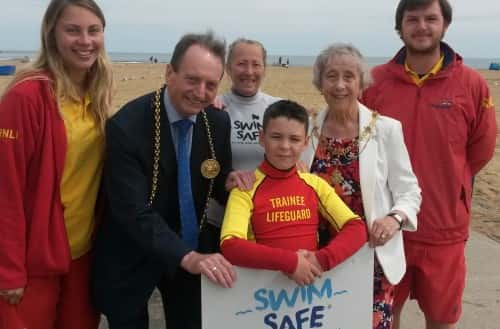 A Swim Safe session taking place last year at Sandhaven beach/by RNLI/Adrian Don.