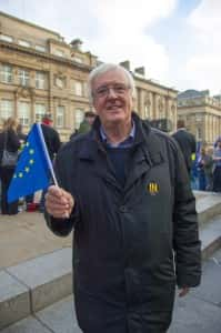 LibDem Lord Shipley at a Remain rally in Newcastle. Image by Ryan Lim