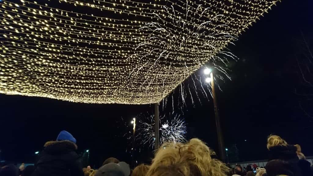 Fireworks over Keel Square