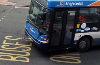 PA Images: A Stagecoach Bus departs Edinburgh bus station