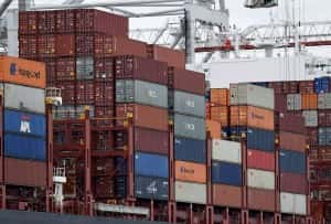 File photo dated 29/07/15 of containers on a ship, as Britain's trade gap widened widened to a worse-than-expected £5.2 billion in September as the plunging pound offered little help to boost flagging exports/Picture by Andrew Matthews PA Wire/PA Images.