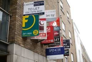 File photo dated 13/09/15 of a row of For Sale, Let By and To Let estate agent signs on a wall in London, as Chancellor Philip Hammond announced a relaxation of restrictions on schemes like affordable rent, shared ownership and rent-to-buy, to help people in different housing circumstances, including renters struggling to save for a deposit/Picture by Yui Mok PA Wire/PA Images.