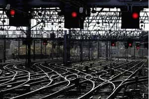 File photo dated 25/10/00 of rail signal lights and track, as Chancellor Philip Hammond announced a funding boost to the modernisation of signalling on Britain's railways/Picture by David Checkin PA Wire/PA Images.