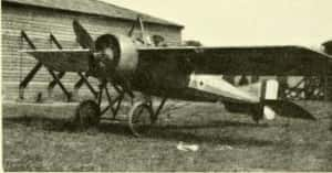 W.Cdr. Ridley aboard a RFC Morane Bullet. (Image courtesy of NELSAM)