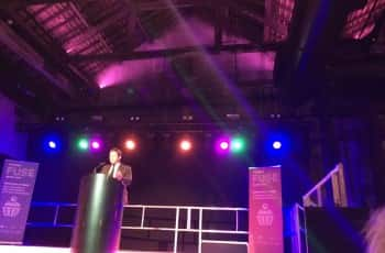 Chairman of the Creative Fuse North East Advisory Board, MP Ed Vaizey, helping to launch the Creative Fuse North East project at the Boilershop in Newcastle on 01/12/16. Photo by: Sophie Dishman.