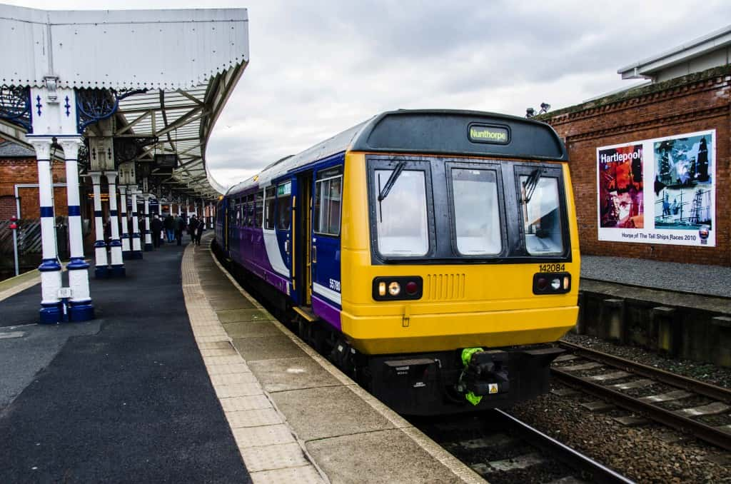File photo of a Northern Rail Class 142 Pacer at Hartlepool. (Image by Ryan Lim)