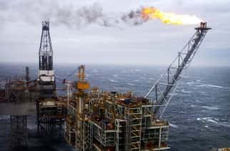 Embargoed to 0001 Tuesday November 29 File photo dated 16/03/07 of an oil rig in the North Sea, as more than two-thirds of oil and gas firms have cut jobs this year, with more losses expected over the next 12 months, according to an industry survey.