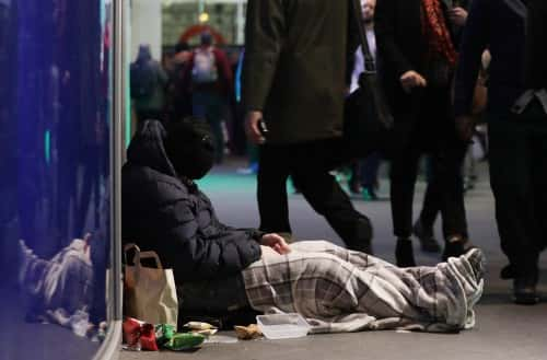 File photo dated 15/12/16 of a homeless man in Victoria, London. Thousands of young people at risk of homelessness this Christmas face dangerous choices in a bid to find somewhere safe to sleep, a charity has warned.