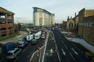 Afternoon traffic on High Street West, Sunderland