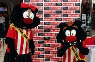 Sunderland AFC Mascots meet families during half term tour