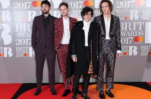 Mandatory Credit: Photo by David Fisher/REX/Shutterstock (8422633cw) The 1975 The Brit Awards, Arrivals, O2 Arena, London, UK - 22 Feb 2017