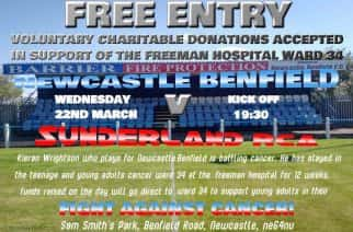 Newcastle Benfield to hold second event to aid the Freeman Hospital's fight against cancer
