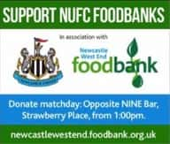 NUFC Fans' Food Bank set for second collection at St James' Park