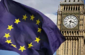 File photo dated 02/07/16 of a European Union flag in front of Big Ben, as the High Court rules today on the legality of Theresa May's decision to use the royal prerogative in her strategy for Brexit.