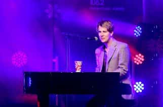 Tom Odell performs at the Regent Street Christmas lights switch on event with Heart FM.