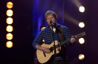 Ed Sheeran performs during filming of the Graham Norton Show at The London Studios, south London, to be aired on BBC One on Friday. PRESS ASSOCIATION. Picture date: Thursday January 19, 2017. Photo credit should read: PA Images on behalf of So TV.