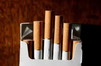 File photo dated 18/06/07 of a packet of cigarettes. Families in the UK are getting healthier, with spending on alcohol and tobacco falling by a third over the last decade.