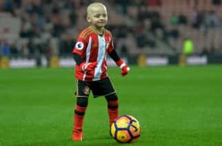 File photo dated 14/12/16 of Bradley Lowery, 5, who is terminally ill with cancer. The family of the football mascot whose battle with cancer has won the hearts of people around the world have revealed he has a new tumour.