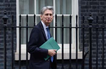 Chancellor Philip Hammond leaves 11 Downing Street, London, for the House of Commons as he prepares to deliver his Autumn Statement.