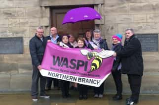 Women Against State Pension Inequality protest held at Sunderland Keel Square