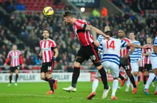 Sunderland's Connor Wickham during the Barclays Premier League match at the Stadium of Light, Sunderland.
