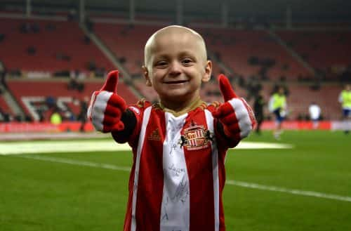 "File photo dated 14/12/16 of terminally ill football mascot Bradley Lowery. The family of the mascot whose battle with terminal cancer has touched the world of football said he is doing well and they are ""not ready to give up""."