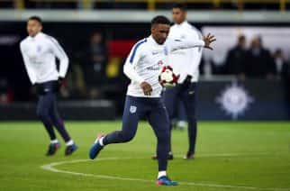 England's Jermain Defoe warms up before the International Friendly match at Signal Iduna Park, Dortmund.