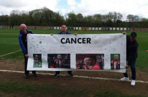 Banner: The Cancer has no Colours banner/photo permission from Darren Powell.