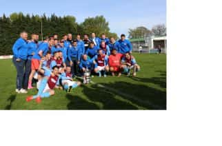 South Shields FC celebrate their Ebac Northern League Division One success at Guisborough Town