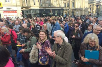 Labour supporters gather in Newcastle to celebrate official release of Jeremy Corbyn's manifesto