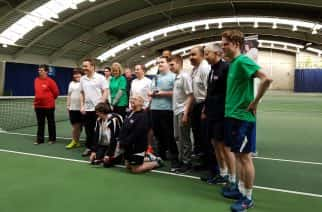 British visually impaired tennis stars grace North East championships