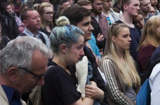 Vigil held at Newcastle Monument following Manchester Arena terror attack